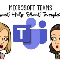 Microsoft Teams Parent Help Sheet Templates